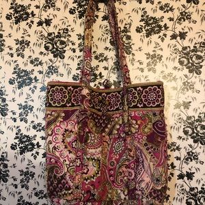 Vera Bradley tote with matching zipbag and wallet